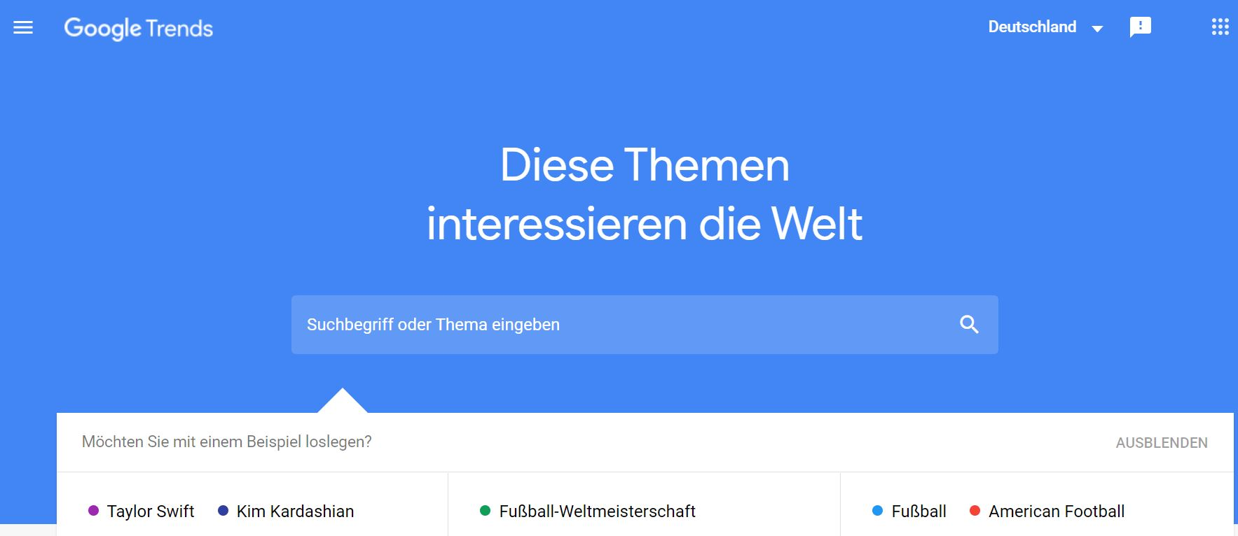 Screenshot Google Trends Content Marketing Tool - StartUp MOM
