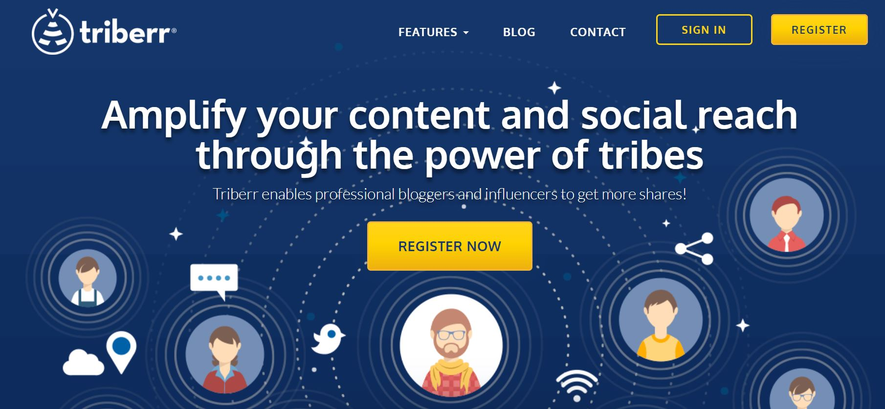screenshot triberr content marketing tools- startup mom